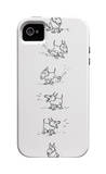 The New Yorker - Dog sits, scratches, barks and sits again - iPhone 4/4s Cover iPhone 4/4S Case by George Booth
