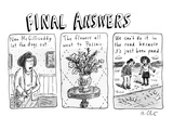 Final Answers - New Yorker Cartoon Premium Giclee Print by Roz Chast