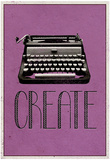Create Retro Typewriter Player Art Poster Print Affiches