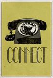 Connect Retro Telephone Player Art Poster Print - Posterler