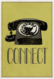 Connect Retro Telephone Player Art Poster Print Bilder