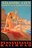Atlantic City Bathing Pa Line Posters