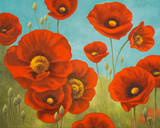 Field of Poppies I Art by Vivien Rhyan