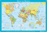 Vade Escolar Portugal - Mapa Del Mundo Originalt