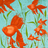 School of Fish I Prints by Gina Ritter