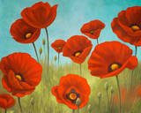 Field of Poppies II Print by Vivien Rhyan