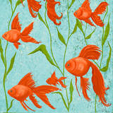 School of Fish II Print by Gina Ritter