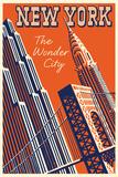 NY The Wonder City Kunstdrucke