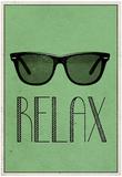 Relax Retro Sunglasses Art Poster Print Plakát