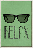 Relax Retro Sunglasses Art Poster Print Julisteet