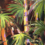 Palms in the Night I Print by Jane Slivka