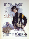 Woman Marines Want to Fight Prints