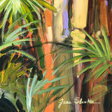 Palms in the Night II Prints by Jane Slivka