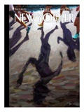 Shadow Over Boston - The New Yorker Cover, April 29, 2013 Premium Giclee Print by Eric Drooker