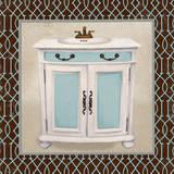 Chic Lattice Bath II Posters af Elizabeth Medley