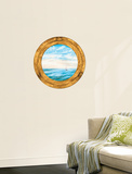 Trompe LOiel Porthole Accent Wall Decal Wallpaper Mural