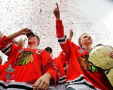 Jonathan Toews & Patrick Kane Chicago Blackhawks 2010 Stanley Cup Champions Victory Parade (60) Photo