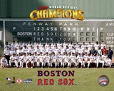 '04 World Series Champion Red Sox Team Sit-down Photo