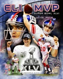 Eli Manning Super Bowl XLVI MVP Composite Photo
