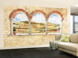 Tuscan View Small Huge Mural Art Print Poster Wall Mural
