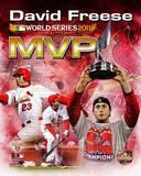 David Freese 2011 MLB World Series MVP Portrait Plus Photo