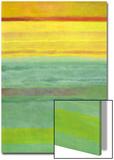 Layered Yellow and Green Abstract 高画質プリント : マリー C. ワッティン