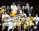 LA Lakers 2010 Finals Champs sit down Celebration (32) Photo