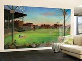 First Pitch Baseball Diamond Huge Mural Art Print Poster Wall Mural