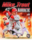 Mike Trout 2012 American League Rookie of the year Composite Photographie