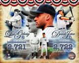 Derek Jeter &amp; Lou Gehrig All-Time Yankee Hit Leader Composite Photo