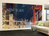 New York City Large Huge Mural Art Print Poster Wall Mural