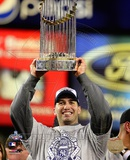 Andy Pettitte with the World Series Trophy Game Six of the 2009 MLB World Series (35) Photo