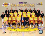 2009-10 Los Angeles Lakers Team Sit Down with NBA Champions Overlay (31) Photo