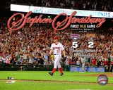 Stephen Strasburg 1st MLB Game With Overlay 2010 Action Photo