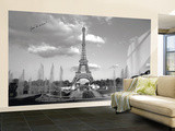 Eiffel Tower Large Huge Mural Art Print Poster Wall Mural