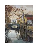 Brugge Reflections Giclee Print by Robert Schaar