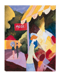 Modefenste Premium Giclee Print by August Macke