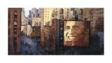 Obama: Moving Forward Giclee Print by Marti Bofarull