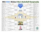 University of Kentucky 2012 NCAA Men's Basketball National Champions Bracket Photo