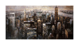 Manhattan by Night Giclee Print by Marti Bofarull