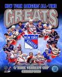 New York Rangers All-Time Greats Composite Photographie
