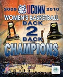 University of Connecticut Huskies Women's Basketball Back to Back Championships Composite Photo
