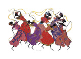 Bailarina principal en túnica morada Lámina giclée por Augusta Asberry