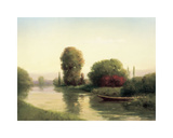 By the Riverside Giclee Print by  Udell