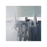 Chrysler and Empire State Buildings Giclee Print by Joan Farré