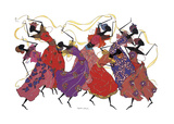 Lead Dancer in Purple Gown Giclee Print by Augusta Asberry
