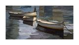 El Descanso de las Tres Barcas Giclee Print by Poch Romeu