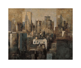 Manhattan and Black Structures Giclee Print by Marti Bofarull