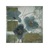 Cerulean Poppies I Giclee Print by Robert Lacie