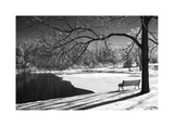 Heritage Pond in Winter Giclee Print by Monte Nagler